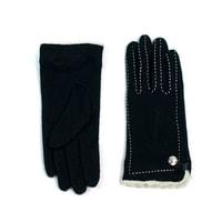 Černé rukavičky s kožíškem