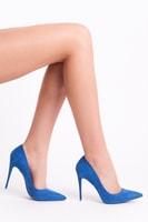 Lodičky na jehlovém podpatku modré