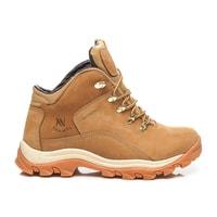 Kožené trekové boty béžové