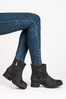 Podzimní boty na plochém podpatku
