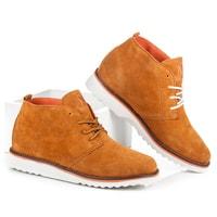 Dámské kotníkové semišové boty camel