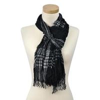 Plisovaný šátek černý