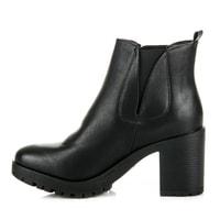 Dámská podzimní obuv na platformě černá - Via Giulia - Kotníčkové boty 75f6d65a37