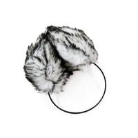 Kožíškové klapky na uši bílé