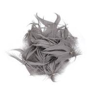 Pírková ozdoba šedá