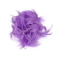 Pírková ozdoba lila