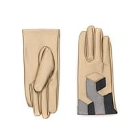 Moderní rukavice Electro světle béžové - zlaté
