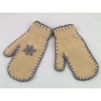 Palcové rukavice béžové