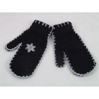 Palcové rukavice černé