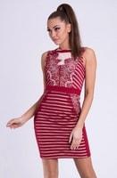 Dámské šaty v barvě kaštanové