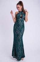Tmavě zelené dámské šaty