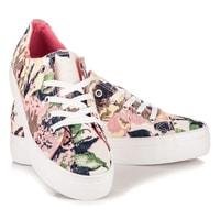 Dámská obuv multicolor v růžových odstínech