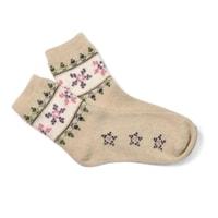 vlněné ponožky béžové
