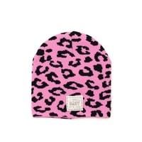 Růžová leo čepice