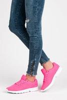 Textilní dámská obuv růžová