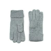 Vlněné rukavice s hvězdou šedé