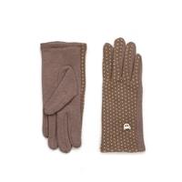 Hezké dámské rukavice hnědé