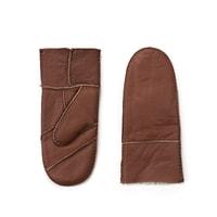 Hnědé palcové rukavice