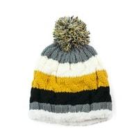 Teplá čepice s kožíškem žlutá