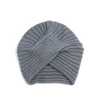 Čepice - turban šedá