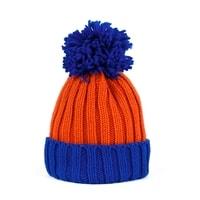 Dvoubarevná zimní čepice modrá