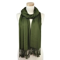 Kašmírový šál zelený