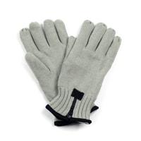 Pánské pletené rukavice se zipem šedé