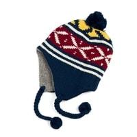 Zimní čepice - ušanka modrá