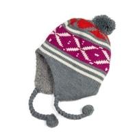 Zimní čepice - ušanka šedá
