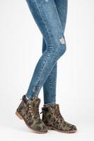 Dámské maskáčové kotníkové boty trapery