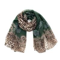 Šál elegantní zelenoleopardí
