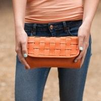 Módní kabelka oranžová