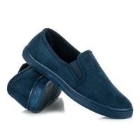 Semišové sportovní boty modré