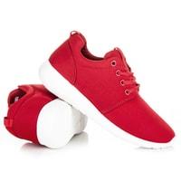 Dámské sportovní boty v červené barvě