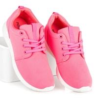 Dámské sportovní boty v růžové barvě