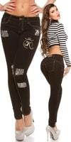 Černé džíny s kamínky