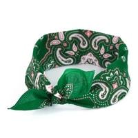 Šátek do vlasů zelený