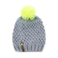 Dívčí neonová čepice žlutá