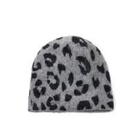Čepice šedý leopard