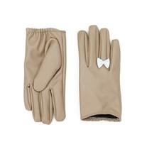 Krátké rukavice s mašličkou béžové