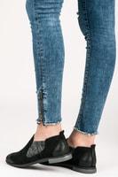 Dámské kožené boty černé
