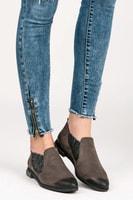 Dámské kožené boty šedohnědé