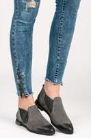 Dámské kožené boty šedé