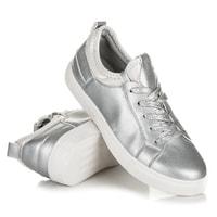 Dámské šněrovací tenisky stříbrné