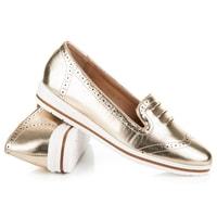 Stylová dámská zlatá obuv
