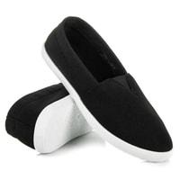 Lehké černé textilní tenisky
