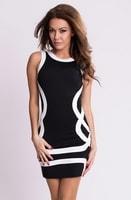 Sportovní černobílé dámské šaty