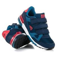 Tm. modré boty na suchý zip