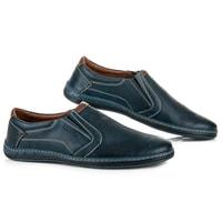 Pánské kožené boty navy