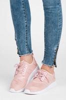 Semišové sportovní boty růžové